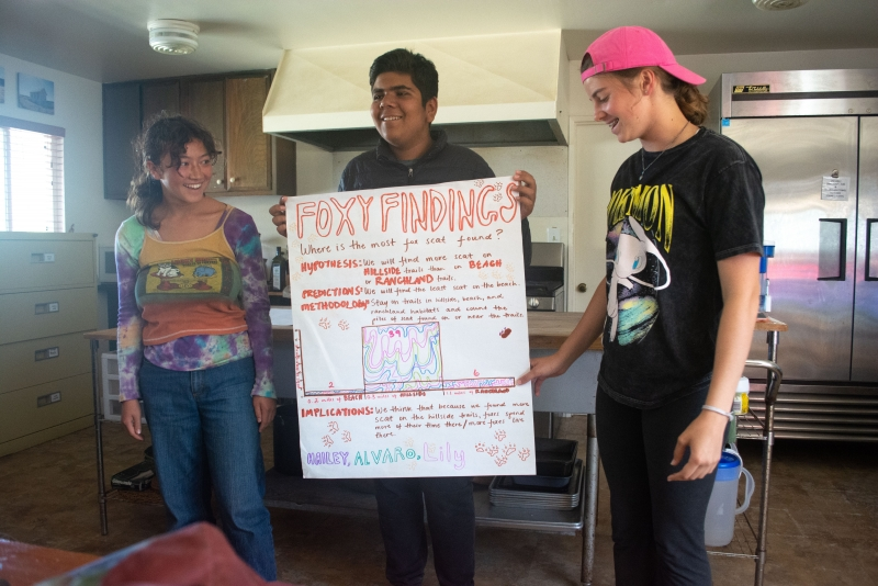 teens present research on fox scat distribution