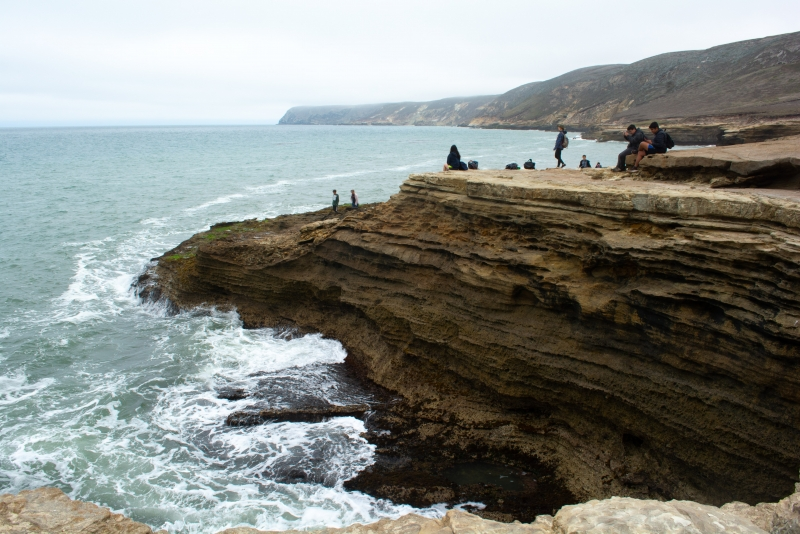 Wild coastline at the mouth of Lobo Canyon
