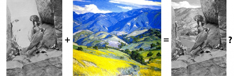 Carl Oscar Borg Santa Ynez Mountains painting and Duck Hawk Group diorama