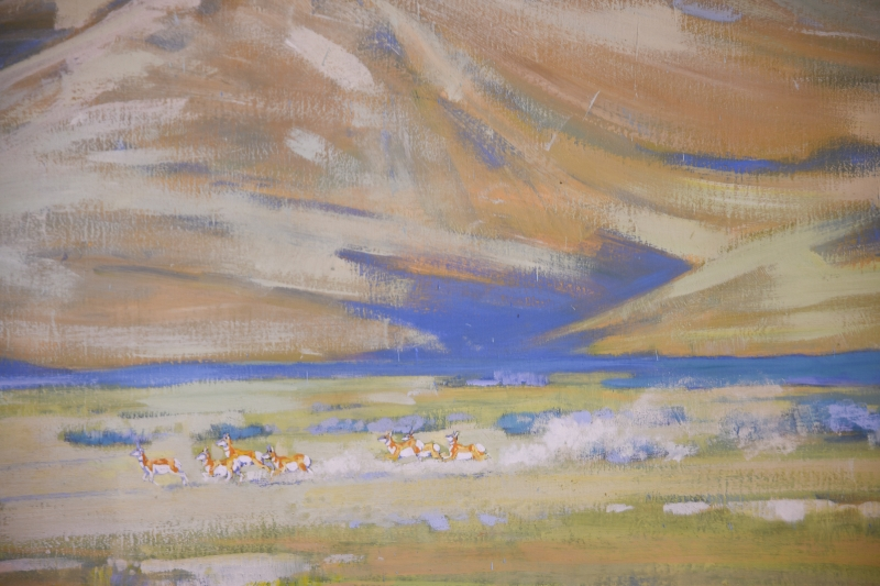 tiny Pronghorn Antelope in mural detail